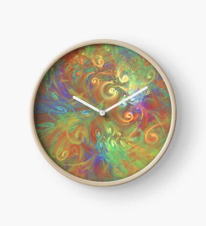Fractal Flowers Clock