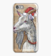 Christmas Goat iPhone Case/Skin