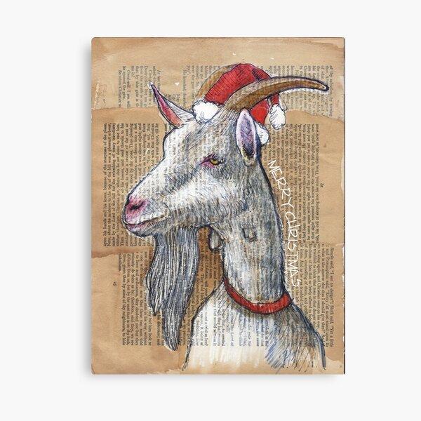 Christmas Goat Canvas Print