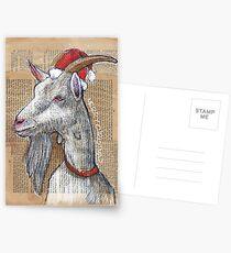 Christmas Goat Postcards
