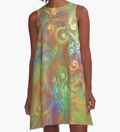 Fractal Flowers A-Line Dress