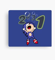 Sonic drowns!  Canvas Print