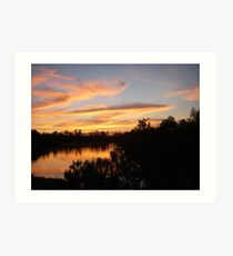 Beautiful Sunset Over Bayou Liberty Art Print
