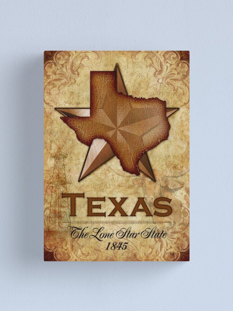 Alternate view of Texas Independence - The Lone Star State Canvas Print