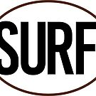 SURF BLACK AND WHITE OVAL SURFING SURFER BEACH OCEAN by MyHandmadeSigns