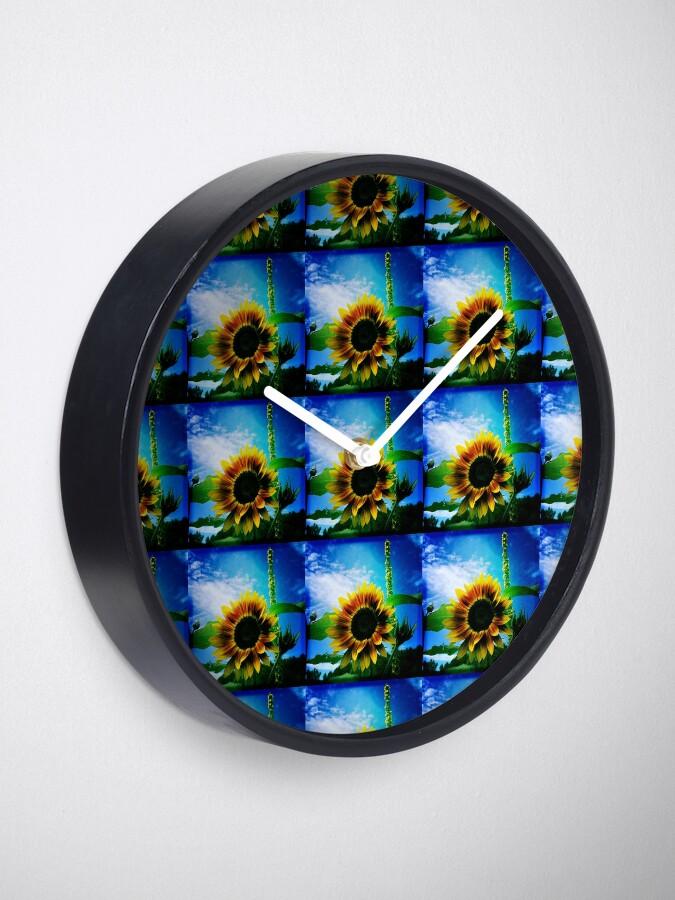 Alternate view of Sunflower Lover - Sunflower Art Photography Clock