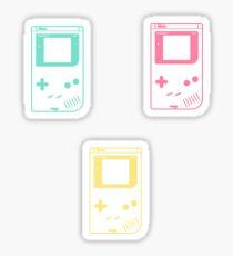 Minimal Gameboy Outlines (white) Sticker