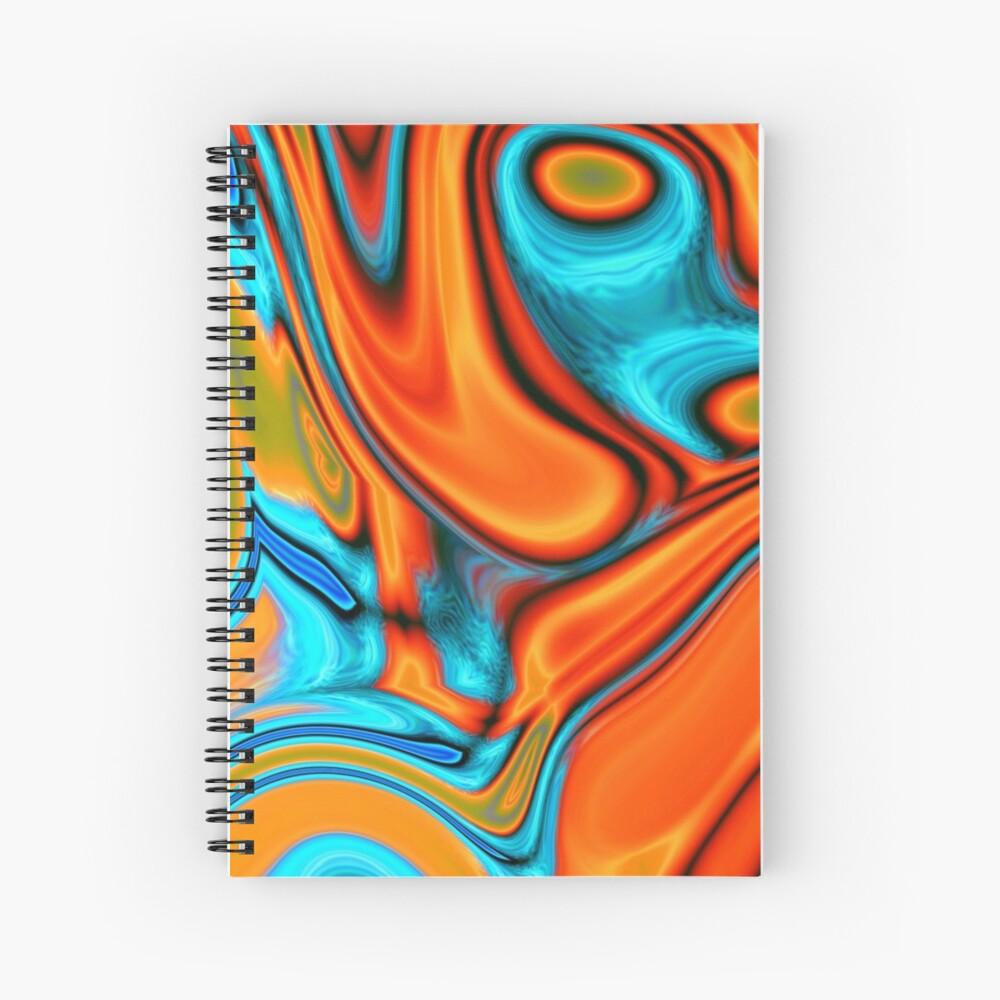 vivid modern Southwest hipster turquoise orange swirls Spiral Notebook