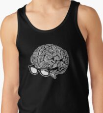 Brain with Glasses Tank Top