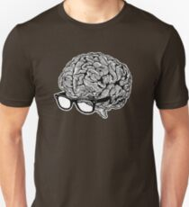 Brain with Glasses Unisex T-Shirt