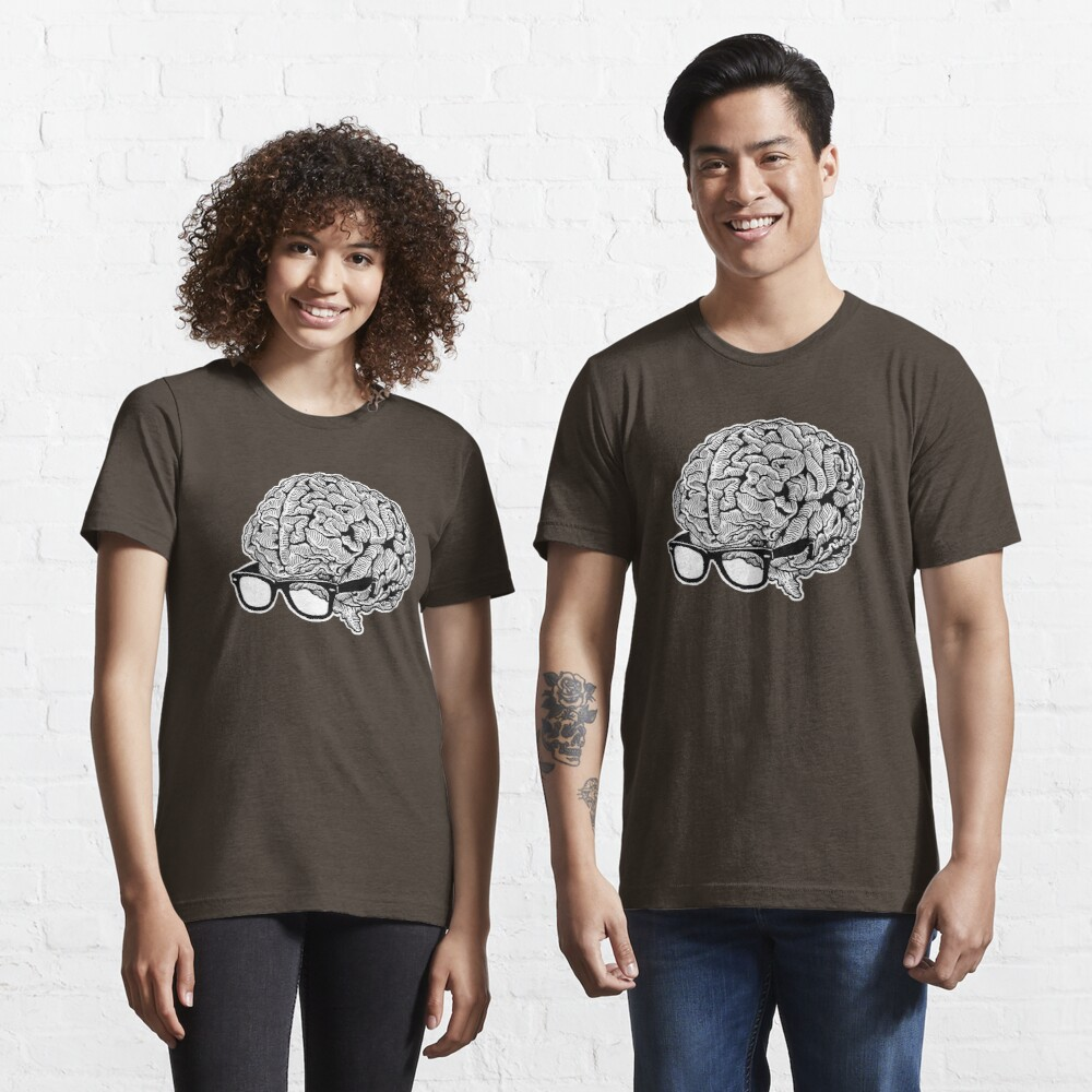 Brain with Glasses Essential T-Shirt