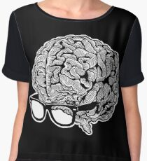 Brain with Glasses Women's Chiffon Top