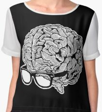 Brain with Glasses Women's Chiffon Top