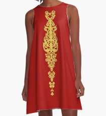 Queen Embroidery A-Line Dress
