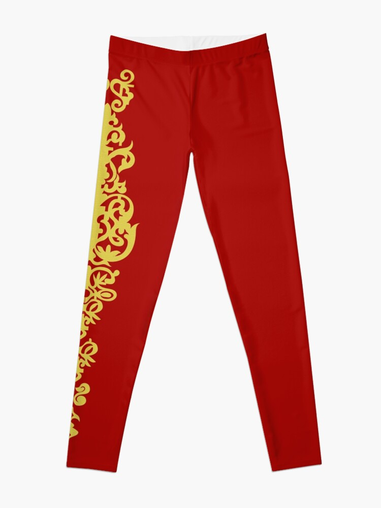 Alternate view of Queen Embroidery Leggings