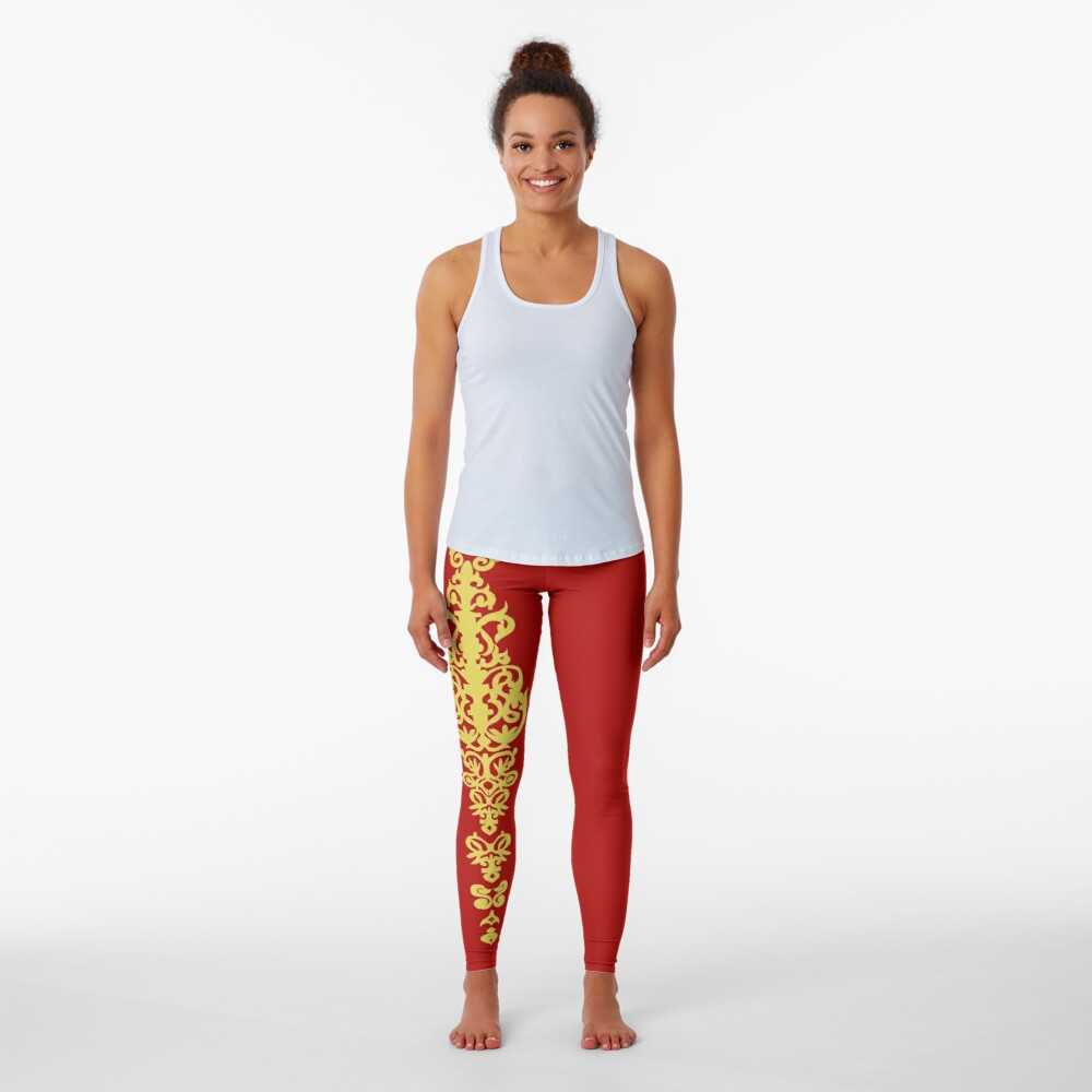 Queen Embroidery Leggings