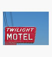 Twilight Motel Photographic Print