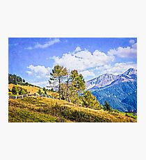 Alpine landscape in late summer Photographic Print