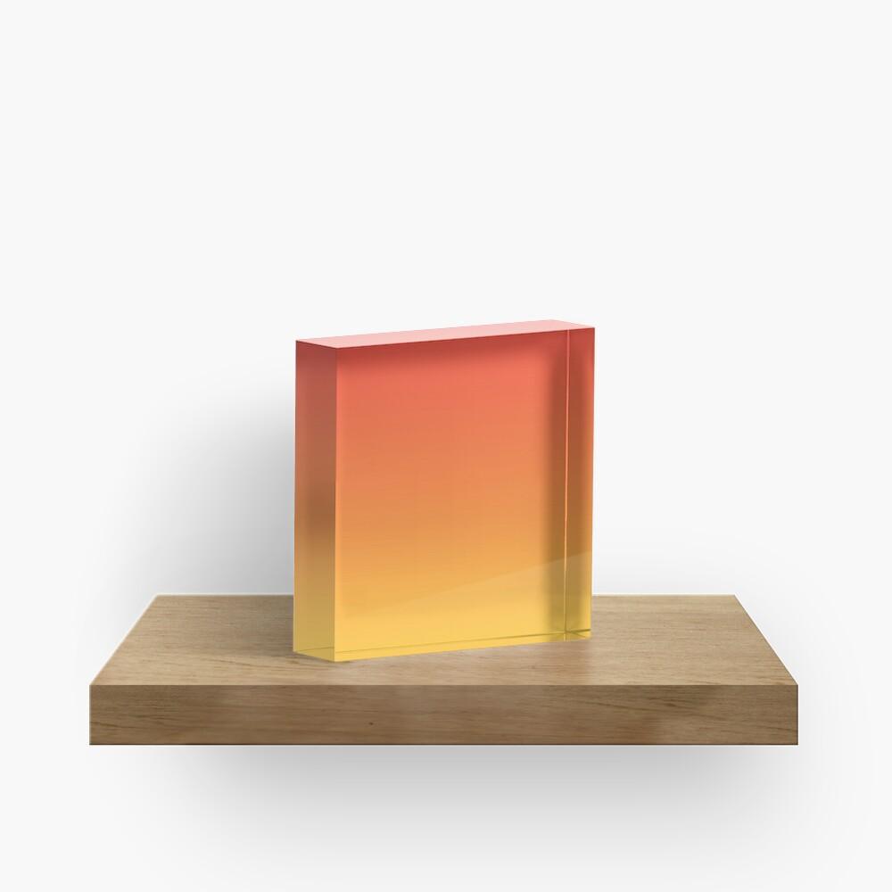 modern trendy abstract Yellow Orange Ombre Acrylic Block