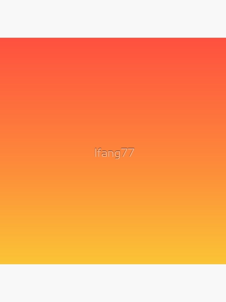 modern trendy abstract Yellow Orange Ombre by lfang77
