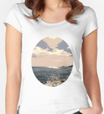 On the Shining Sea Women's Fitted Scoop T-Shirt