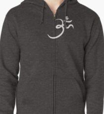 Stylized Om Yoga T-shirt Zipped Hoodie