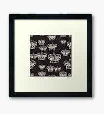 CROWN patch Framed Print