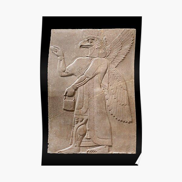 Neo-Assyrian bird-headed Genie Poster