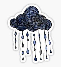 Swirly Raindrops Sticker