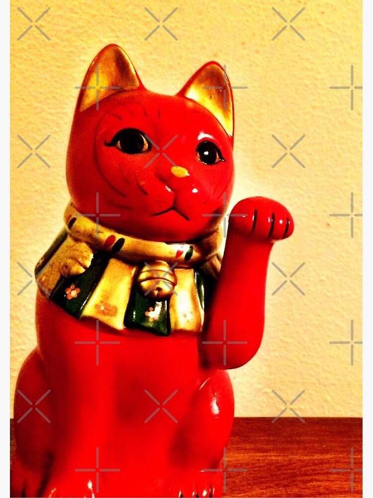 Lucky Cat - Maneki Neko - Cat Lovers - Good Luck Gift  by OneDayArt