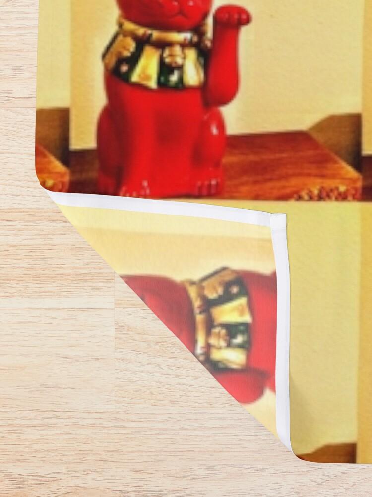 Alternate view of Lucky Cat - Maneki Neko - Cat Lovers - Good Luck Gift  Shower Curtain