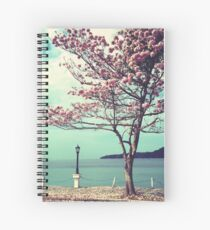 Blooms by the Sea - Panama Landscape  Spiral Notebook