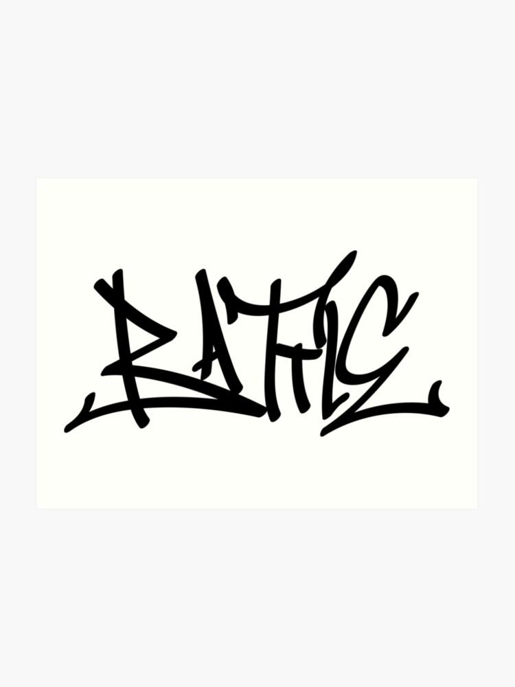 graffiti letters creator drawings alphabet   Art Print