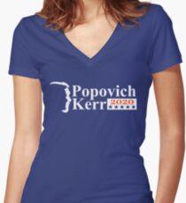 popovich kerr 2020 shirt Women's Fitted V-Neck T-Shirt