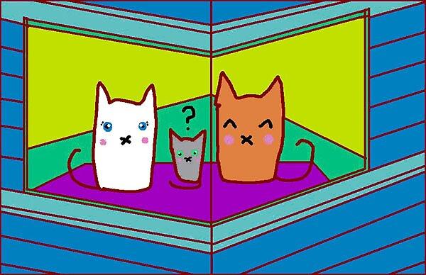 Cat Family by Alex Moir