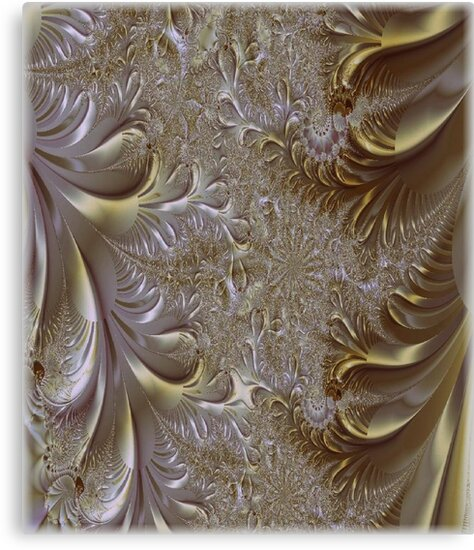 Gold and Silver Fantasy Lace Work by Greta  McLaughlin