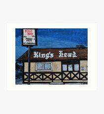 King's Head Inn R.I.P. Art Print