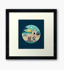 Videogame beach Framed Print