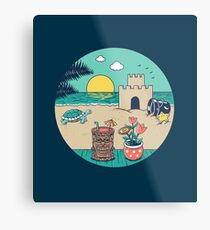 Videogame beach Metal Print