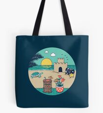 Videogame beach Tote Bag