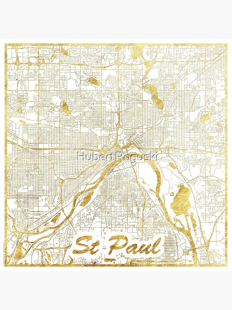 St Paul Map Gold by HubertRoguski