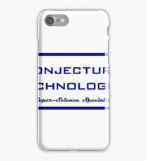 Conjectural Technologies (blue) iPhone Case/Skin