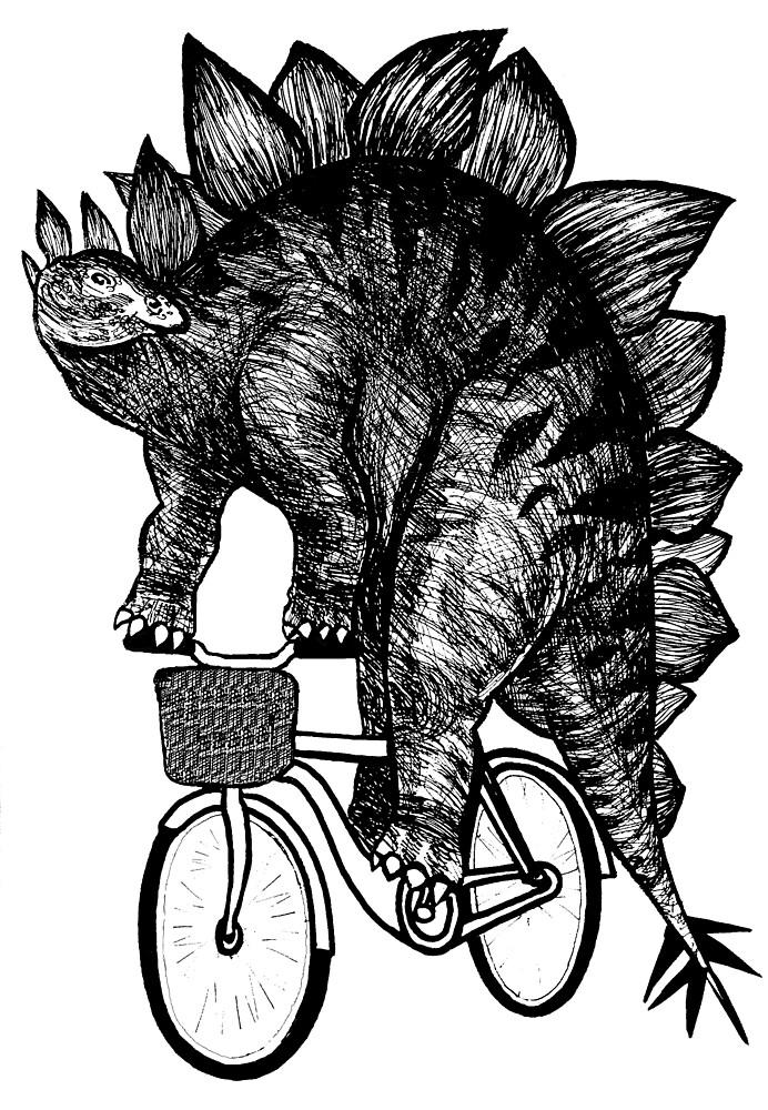 Stegosaurus Funny by toshibung