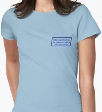 Conjectural Technologies (blue) Womens Fitted T-Shirt