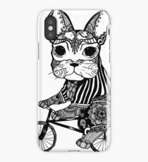 Funny Big Mouse Rat on a Bicycle  iPhone Case/Skin