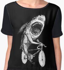 Shark Ride Bicycle  Women's Chiffon Top
