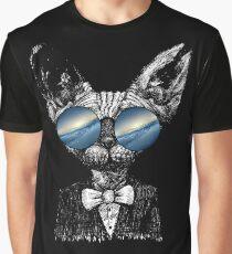 Camiseta gráfica Galaxy Sphylass Gata Sunglass