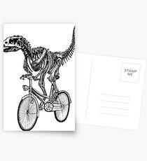 Skeleton Fossil Love Bike  Postcards