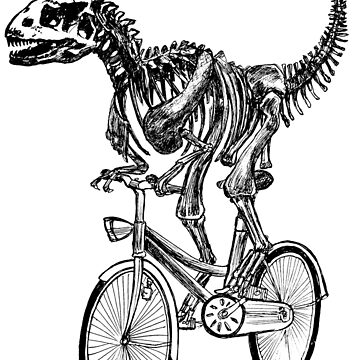 Skeleton Fossil Love Bike  by toshibung