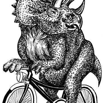 Triceratops Ride Bicycle  by toshibung